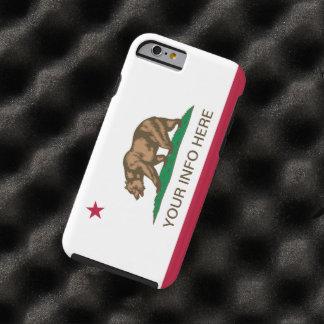 Personalized California Republic Flag Tough iPhone 6 Case