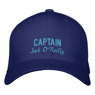 Personalized Captain s Embroidered Hat
