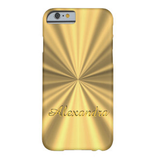 Personalized chic elegant golden barely there iPhone 6 case