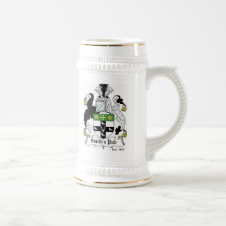 Personalized Coat of Arms Stein - Green Beer Steins