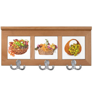Personalized Coat Rack Featuring Fruits