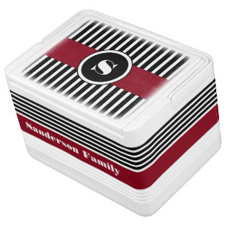 Personalized Cool & Modern Stripes Chilly Bin