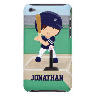 Personalized Cute Baseball cartoon player iPod Touch Covers