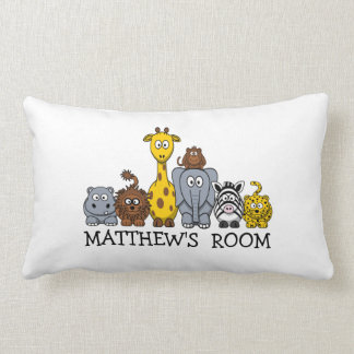 Personalized Cute Cartoon Jungle Animals Pillow