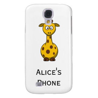 Personalized Cute Giraffe Cartoon  Galaxy S4 Case