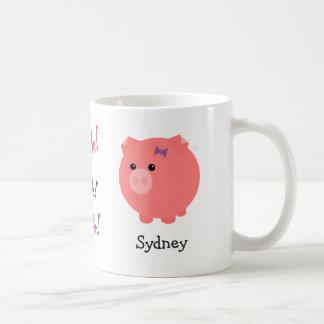 Personalized Cute Pig Cup Basic White Mug