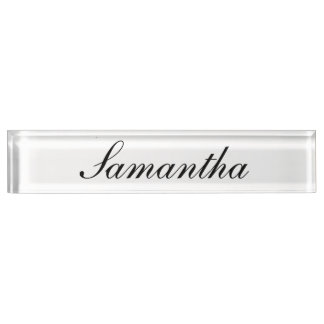 Personalized desk nameplate with elegant letters