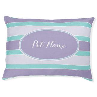 Personalized dog bed Purple aqua blue pet bed