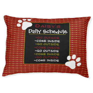 Personalized Dog's Schedule Pet Bed