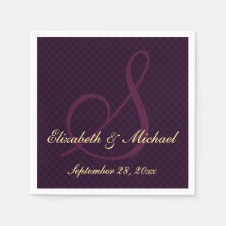 Personalized Elegant Monogram Wedding Paper Napkin