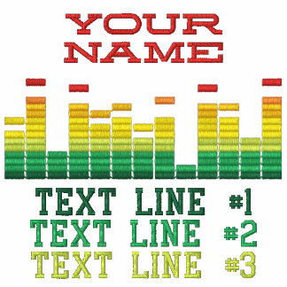 Personalized Equalizer Embroidery 4 the DJ in You! Polos