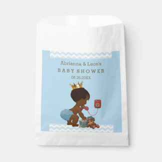 Personalized Ethnic Prince Baby Shower Chevrons Favour Bags