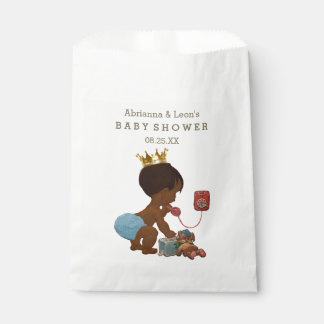 Personalized Ethnic Prince on Phone Baby Shower Favour Bags