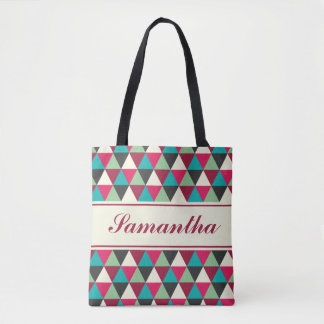 Personalized Ethnic Tribal Triangles Pattern Tote Bag