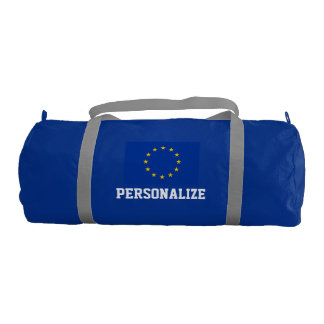 Personalized European Union flag duffle gym bag Gym Duffel Bag