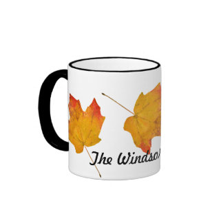 Personalized Family Name Fall Themed Coffee Mug