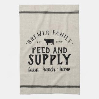 Personalized Feed Supply Grain Sack Tea Towel
