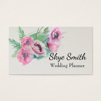 Personalized Floral Poppy Standard Business Card