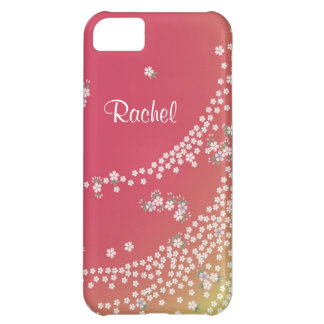 Personalized Flower Petals in the Wind iPhone 5C Case