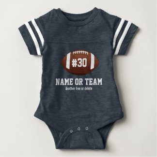 Personalized Football Design Name, Number, Team Baby Bodysuit