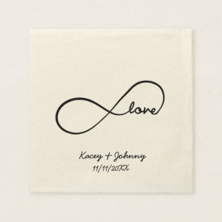 Personalized Forever Love Disposable Napkin