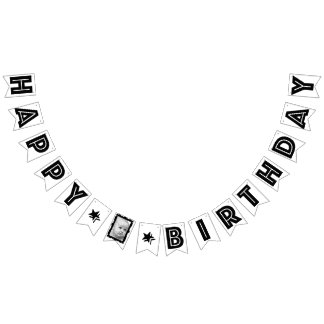 PERSONALIZED FRAME EFFECT PHOTO HAPPY BIRTHDAY BUNTING