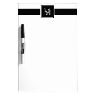 Personalized Framed Monogram On Simple Message Dry Erase Board