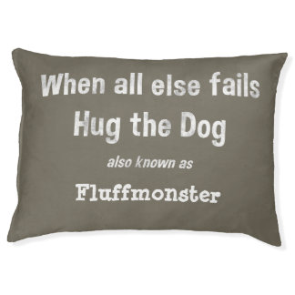 Personalized Funny dog bed Choose background color