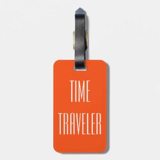 Personalized Funny Time Traveler Luggage Tag Gift