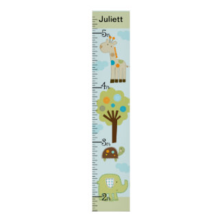 Personalized Giggle Gang Animals Growth Chart