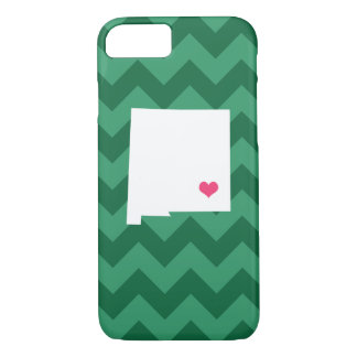 Personalized Green Chevron New Mexico Heart iPhone 8/7 Case