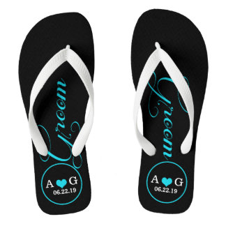 Personalized Groom (blue) Thongs