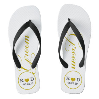 Personalized Groom (gold) Thongs