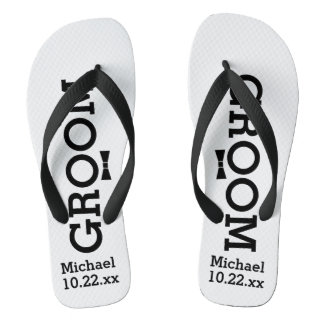 Personalized Groom Wedding - Custom Colors Jandals