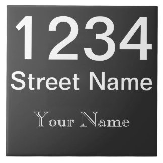 Personalized House Number Large Square Tile