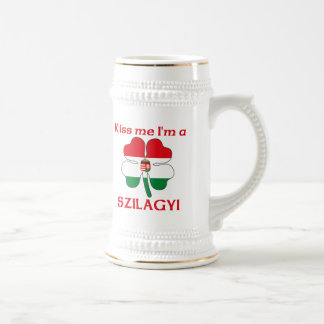 Personalized Hungarian Kiss Me I'm Szilagyi Beer Stein