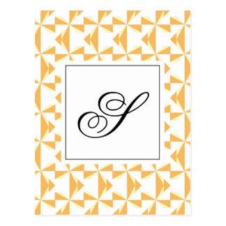 Personalized Initial Pumpkin Pinwheels Postcard