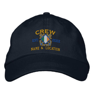 Personalized Irish Flag Crew Nautical Embroidery Embroidered Baseball Cap