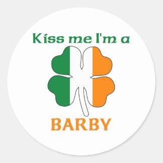 Personalized Irish Kiss Me I'm Barby Stickers