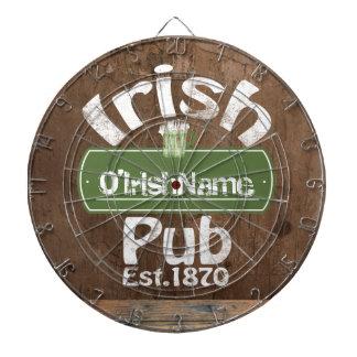 Personalized Irish Pub Old Keg Effect Sign Dart Boards