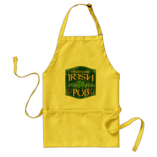 Personalized Irish Pub Sign Adult Apron