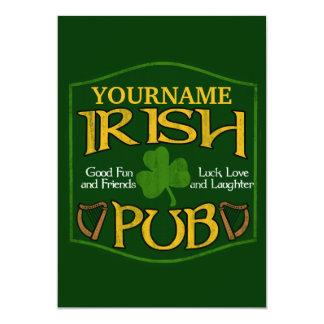 Personalized Irish Pub Sign Personalized Invitations