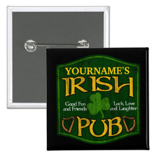 Personalized Irish Pub Sign Pin