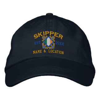 Personalized Irish Skipper Nautical Embroidery Embroidered Hats