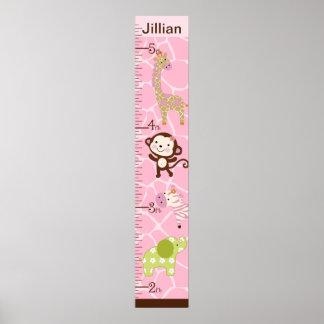 Personalized Jungle Jill Growth Chart #2 Poster