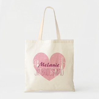 Personalized junior bridesmaid tote bag for girl
