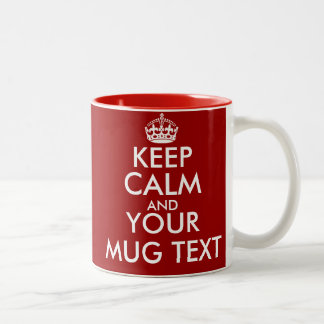 Personalized Keep Calm mugs with customizable text