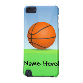 Personalized Kid's Sports Basketball Sunny Day iPod Touch 5G Cover