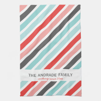 Personalized Kitchen Towels with Stripe Patterns