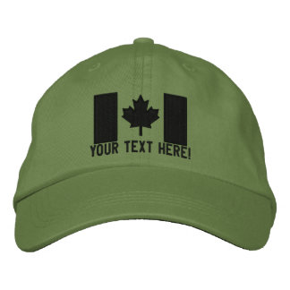 Personalized Large Canadian Flag Embroidery Embroidered Baseball Caps
